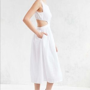 Objects Without Meaning Linen Cutout Dress.